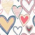 Free Colorful Seamless Heart Pattern Royalty Free Stock Images - 28512729