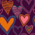 Free Colorful Seamless Heart Pattern Royalty Free Stock Photography - 28512747