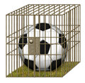 Free Jailed Soccer Ball Royalty Free Stock Image - 28515006