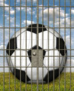 Free Jailed Soccer Ball Royalty Free Stock Photos - 28515018