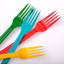 Free Plastic Forks Stock Photo - 28511330