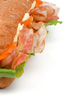 Free Ciabatta Bacon Sandwich Royalty Free Stock Image - 28511686