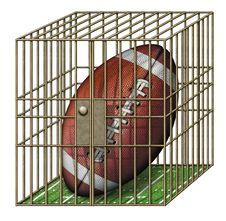 Free Jailed Football Stock Photo - 28513120