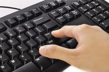 Free Hand Typing Keyboard Stock Image - 28514001