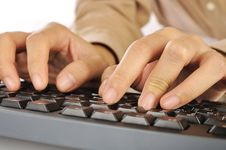 Free Hand Typing Keyboard Royalty Free Stock Photos - 28514038