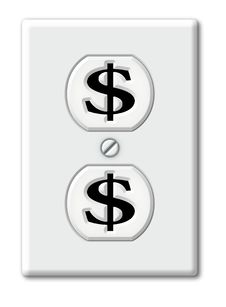 Free Money Outlet Stock Photos - 28514043