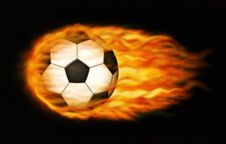 Free Flaming Soccer Ball Stock Images - 28514594
