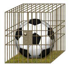 Free Jailed Soccer Ball Royalty Free Stock Image - 28515006