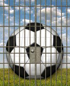 Free Jailed Soccer Ball Royalty Free Stock Photos - 28515018