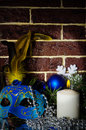 Free Candle And A Carnival Mask Stock Image - 28521161