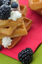 Free Belgian Waffle And Berries Stock Images - 28526754