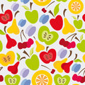 Free Seamless Fruits Pattern Stock Photos - 28528203