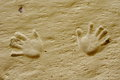 Free Handprints Print In A Sand Cave, Bulgaria Royalty Free Stock Photo - 28528405