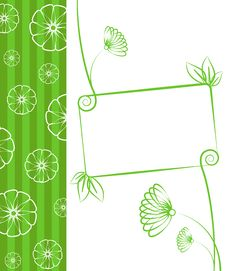 Floral Green Background. Royalty Free Stock Photos