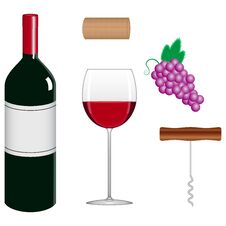 Free Wine Collection Royalty Free Stock Image - 28522786