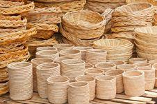 Free Basket Wicker Is Thai Handmade Royalty Free Stock Image - 28522916