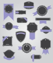 Free Premium Quality Labels With Retro Design . Stock Image - 28524001