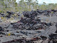 Free Kilauea Volcano,lava Flow Of 1974 On Big Island, Hawaii Stock Images - 28524824