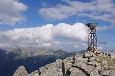 Ombrometer In Rila Mountain, Bulgaria Royalty Free Stock Photography