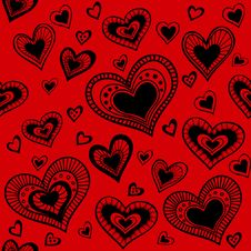 Free Pattern_Hearts Royalty Free Stock Photography - 28527967