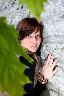 Free Girl Near The Wall Stock Photos - 28528543