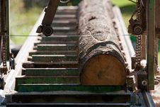 Portable Sawmill Royalty Free Stock Images