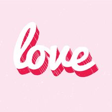 Free Red And White Love Lettering On Pink Background Stock Image - 28529471