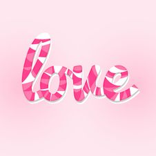 Free Sweet Love Lettering Card Royalty Free Stock Photos - 28529498