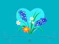 Free Flowers In A Frame Of Heart Royalty Free Stock Images - 28534209