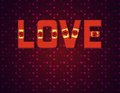 Free Text LOVE With Ribbons Royalty Free Stock Photos - 28538948