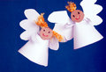 Free Two Angels Made From Paper Royalty Free Stock Photo - 28539145