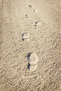 Free Imprint Of The Shoe On Sand Stock Photos - 28539963