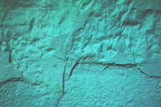 Damaged Painted Turquoise Wall Stock Images