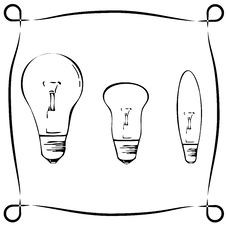 Free Retro Light Bulbs Stock Photo - 28536300