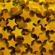 Free Yellow Stars Royalty Free Stock Photo - 28537115