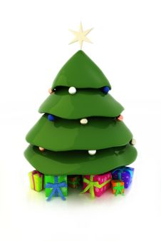 Free Christmas Tree Royalty Free Stock Images - 28539219