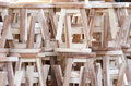 Free A Pile Of Wooden Chair Royalty Free Stock Photos - 28542148