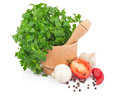 Free Parsley In Mortar Royalty Free Stock Photography - 28544217