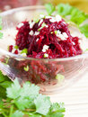 Free Grated Beetroot With Garlic Stock Photo - 28544410