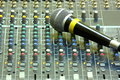 Free Microphone On Sound Mixer Royalty Free Stock Image - 28549276