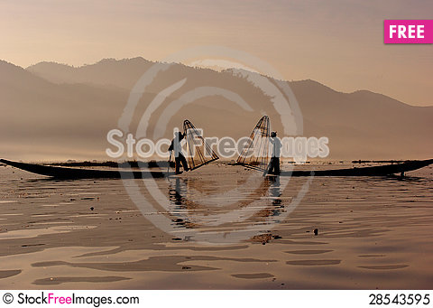 Free Fisherman Of Inle Lake Royalty Free Stock Photo - 28543595