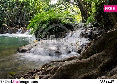 Free Deep Forest Waterfall, Saraburi, Thailand Stock Image - 28544491