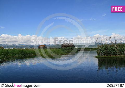 Free Floating Gardens On Inle Lake, Burma &x28;Myanmar&x29; Royalty Free Stock Photography - 28547187