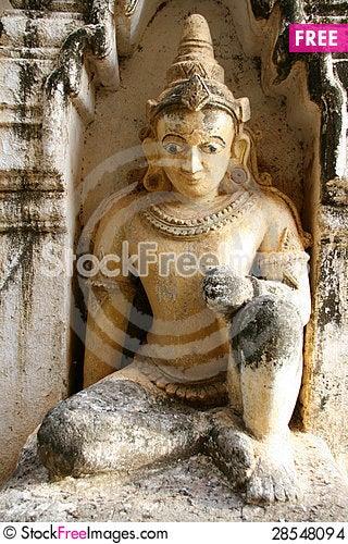 Free Mandalay, Bagan: Statue Of A Goddess Stock Images - 28548094