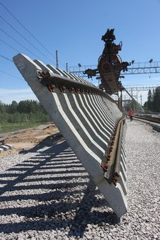 Free Construction Of The Railway Stock Photography - 28541442