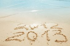 Free Digits  On The Sand Royalty Free Stock Image - 28541696