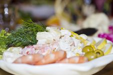 Free Salad On A Table Royalty Free Stock Photo - 28542125