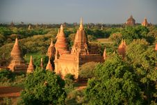 Free Pagodas And Temples In Bagan, Burma &x28;Myanmar&x29; Stock Images - 28548114