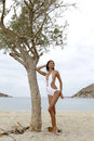 Free Young Fashion Pretty Sexy Woman On The Beach Royalty Free Stock Images - 28551619