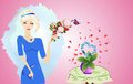 Free Woman And Flowers Royalty Free Stock Photos - 28552798